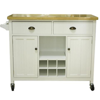 Modern kitchen furniture island cart trolley with wheels