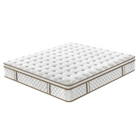 Pillow top roll up hotel pocket spring latex GEL memory foam bed mattress