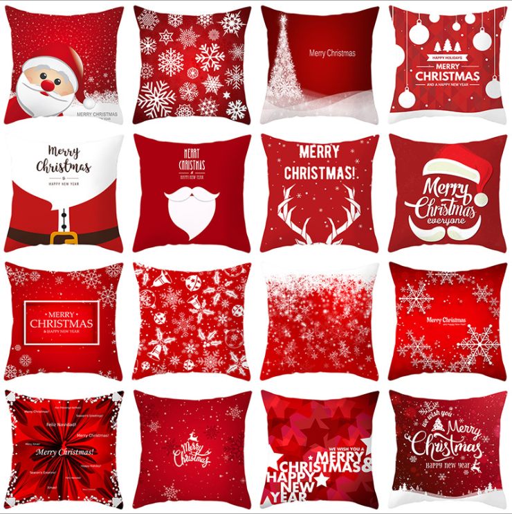 Large supply 2019 2020 Peach-Skin Cover Christmas Pillow Covers