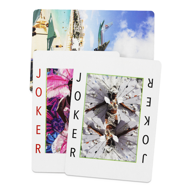 English Two-sides custom design colorful paper printing poker playing cards