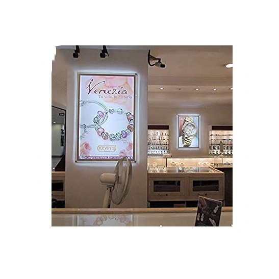 Acrylic <strong>led</strong> Light Box Store Sign Holders Crystal Poster Frame Advertising <strong>Display</strong>