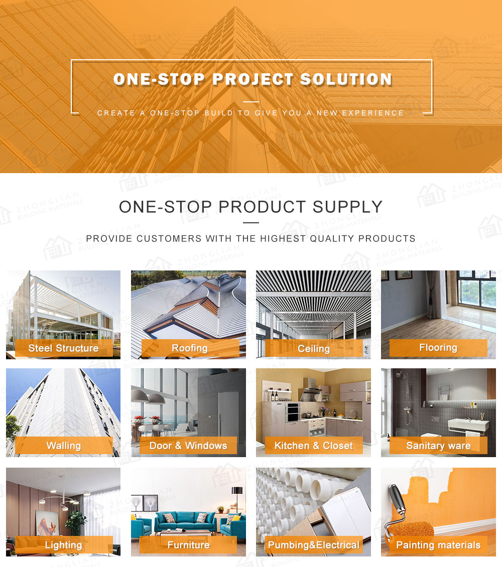 China ecommerce one stop service roofing ceiling floor wall door window construction building materials for house