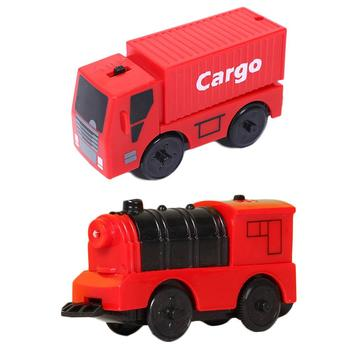 Train Toy Battery Powered Engine Train Kids Wooden Railway Electric Train Compatible For BRIO Wooden Track