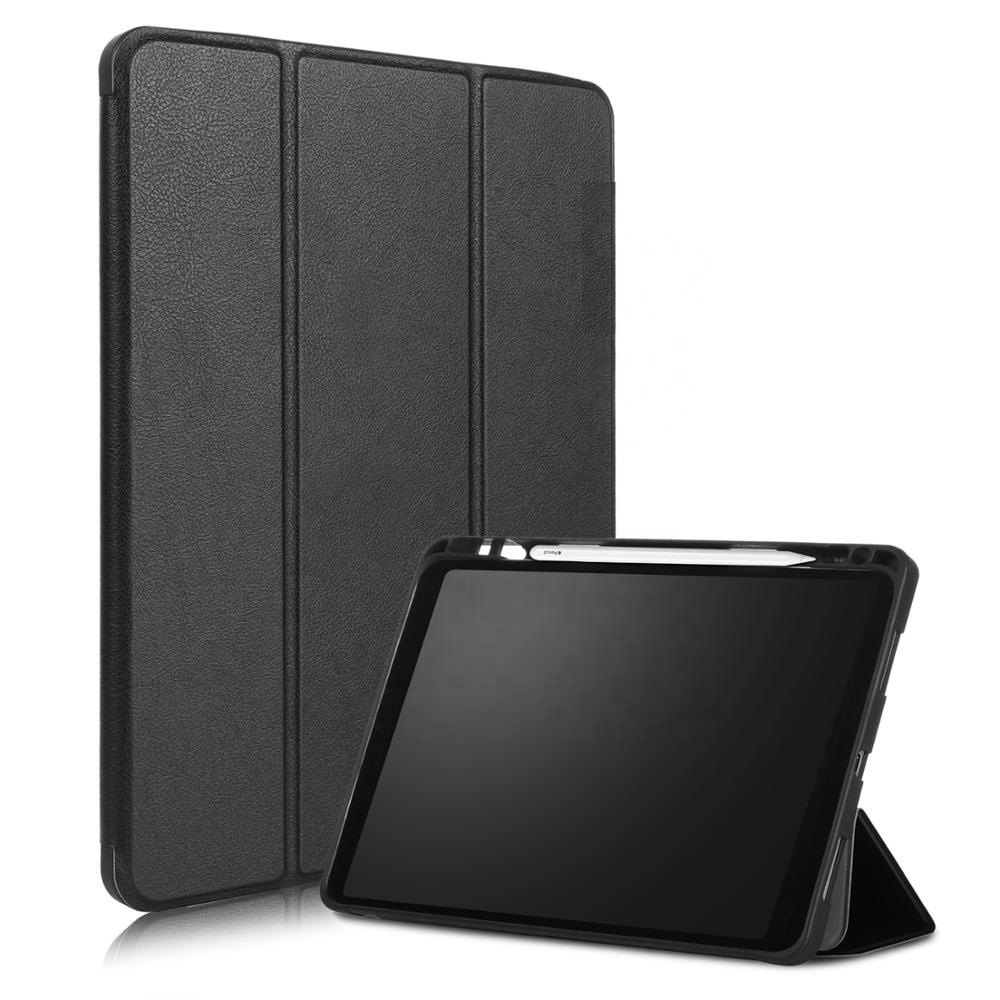 Pencil Holder Trifold Magnetic Ultra Slim Smart Case Cover For <strong>iPad</strong> Pro 11 Leather Case