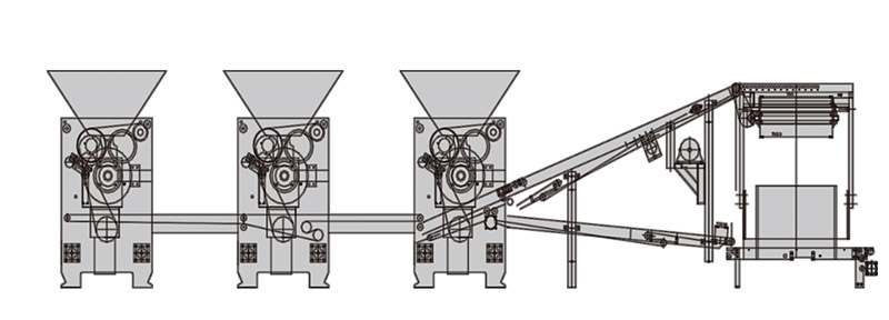Biscuit machine Three-Color dough sheeter