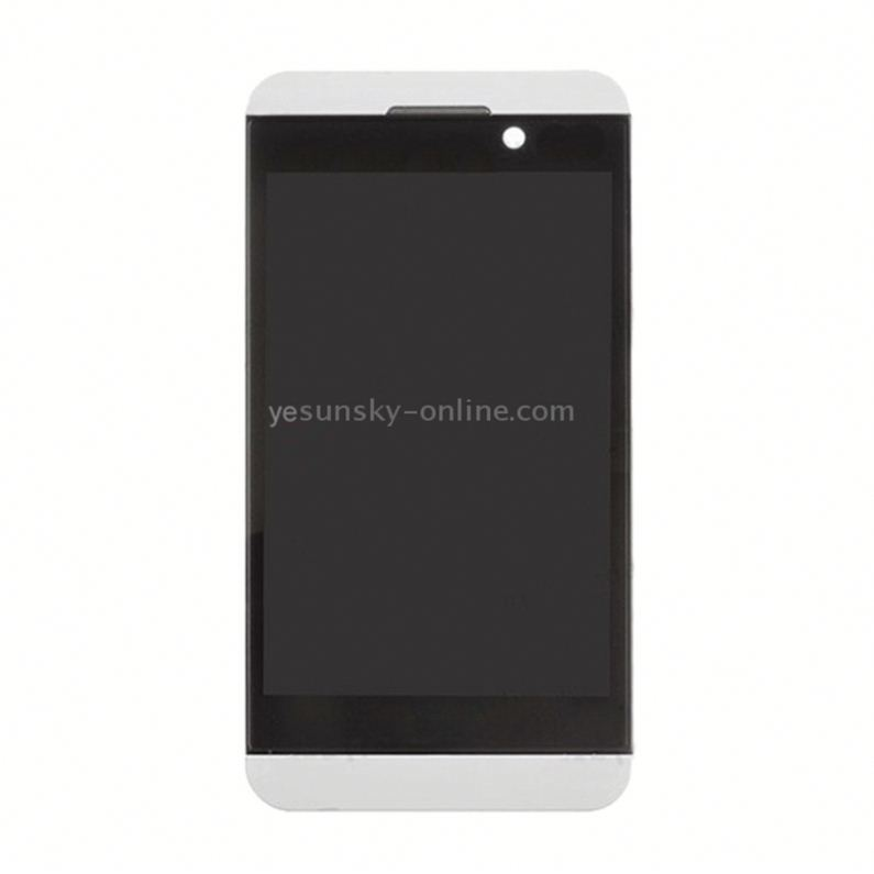 <strong>LCD</strong> Screen and Digitizer Full <strong>Assembly</strong> for BlackBerry <strong>Z10</strong> 4G(White)