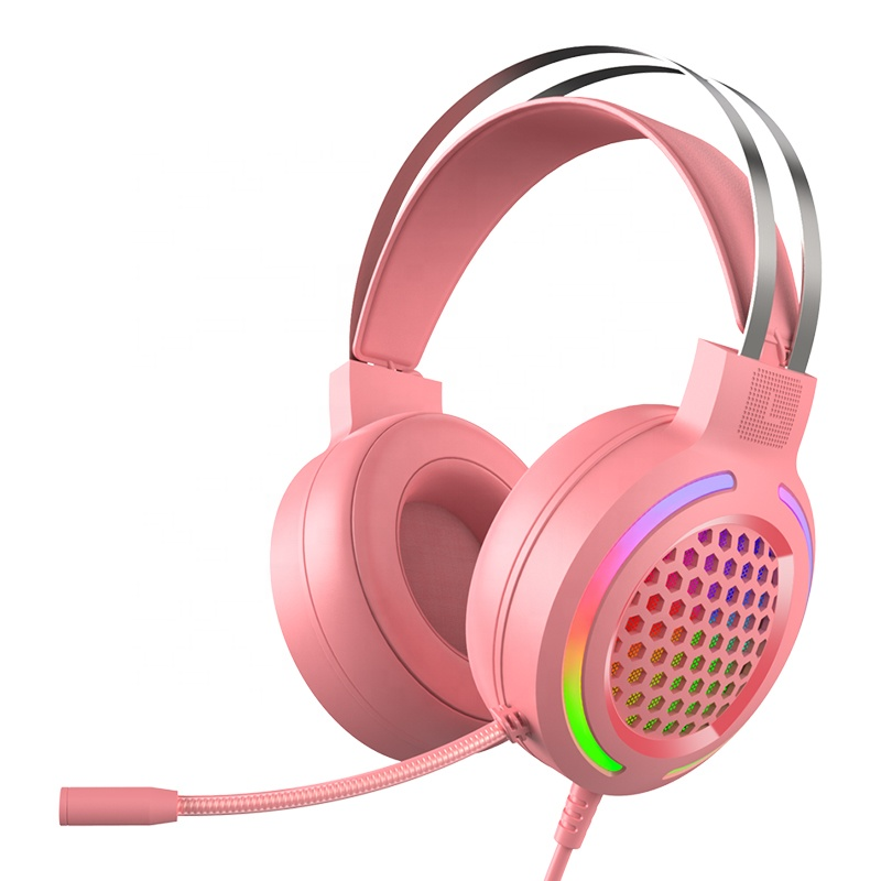 Gaming headphone <strong>W12</strong> model with <strong>led</strong> <strong>light</strong> Stereo sound for pc games earphone with microphone and <strong>light</strong>