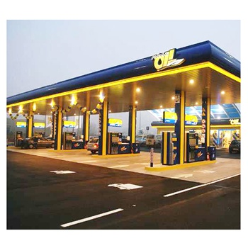Best Design Steel Space Frame Structure Gas Station Canopy for Sale