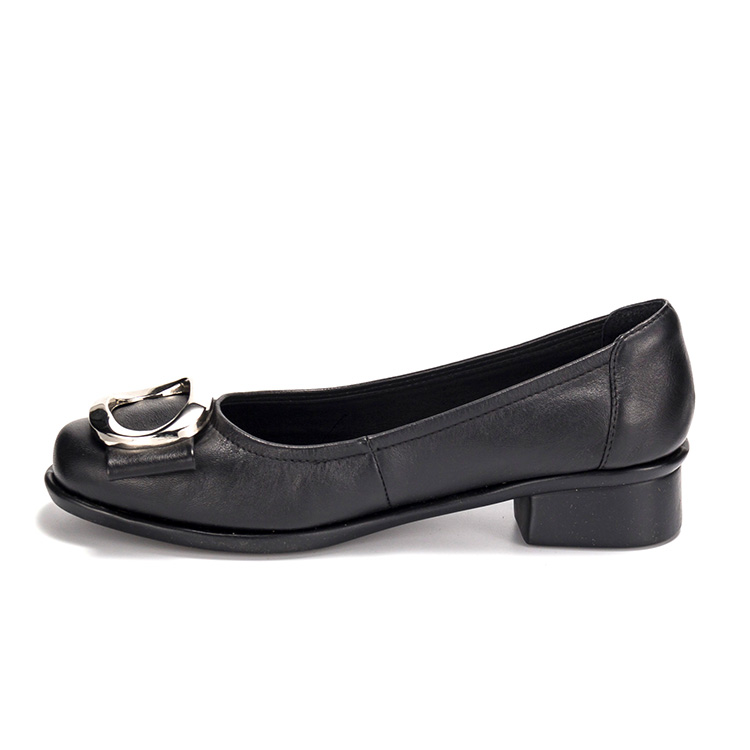 classic style fashion ladies black women's dress shoes low <strong>heel</strong>