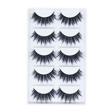 Factory Price Top Quality 5 Pairs 3 Pair 3D Silk Eyelashes 3D Synthetic False Eyelashes For Sale