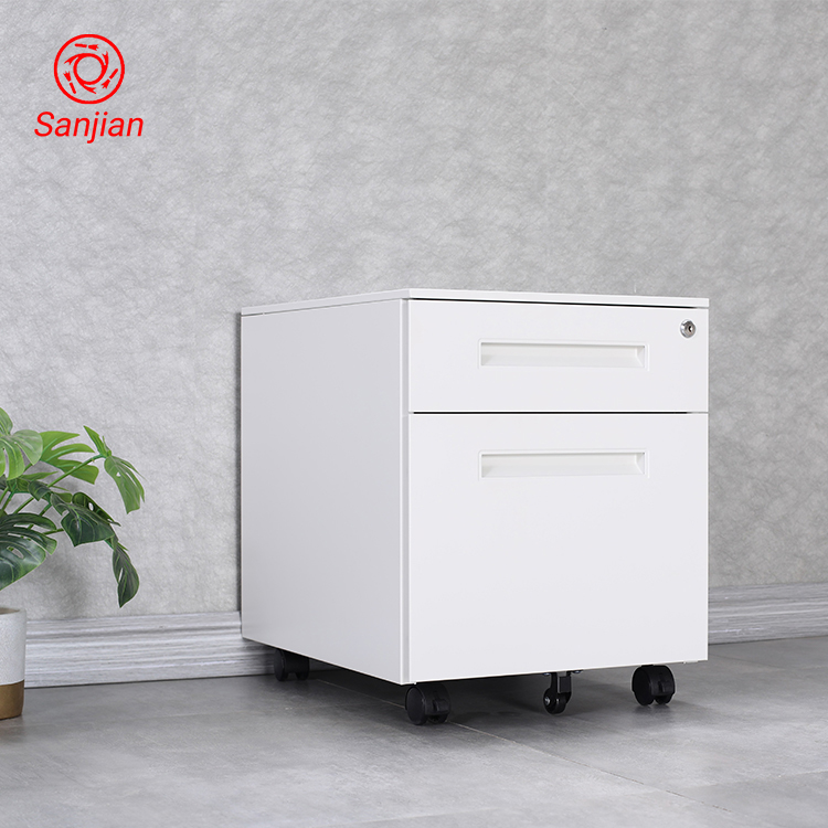 Factory custom Colorful Office Equipment <strong>digital</strong> lock white A4 File storage Cabinet 2 Drawer Mobile Pedestal Filing Cabinet