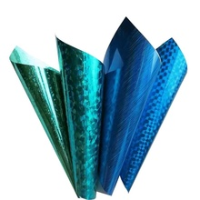 hot sale PET holographic vinyl film transparent film for holiday decoration and gift packing