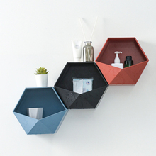 Creative hexagon <strong>bathroom</strong> <strong>wall</strong>-mounted storage rack <strong>wall</strong> shelves home <strong>decorations</strong>