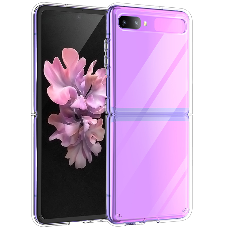 2020 New Arrival Crystal Clear PC Hard Cover Phone <strong>Case</strong> For Samsung <strong>Z</strong> Flip Back Cover