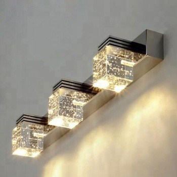 4-Light Long LED Bath Lighting Over Mirror Crystal Wall Sconces Lightess Bathroom Vanity Lights