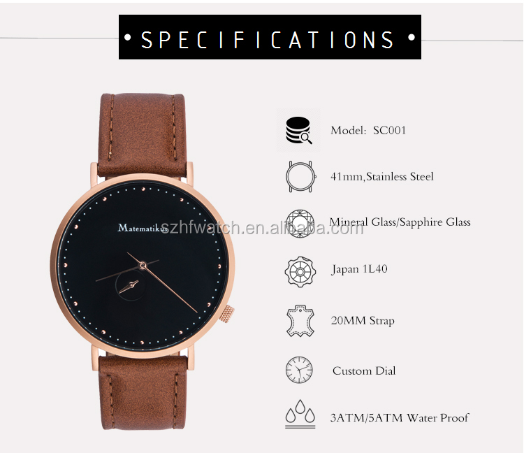 2020 new arrival stock elegant men brand watches for Japan Market
