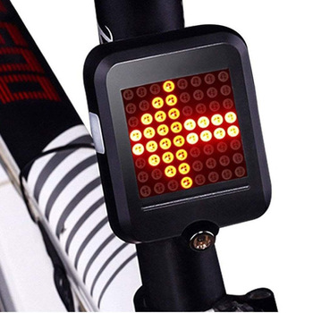 Cycling MTB Bike Rear Light Waterproof USB Rechargeable Automatic Turn Signals LED Rechargeable Bicycle Tail Light