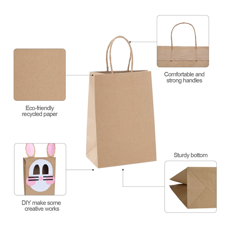Take out packaging kraft tote bag paper bag