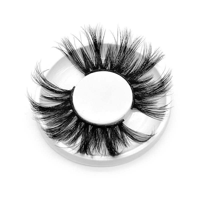 Sy lashes shuying vendor factory handmade 5d eyelashes mink fur100% 25mm 5d mink eyelashes