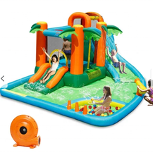 inflatable wet or dry slide with detachable pool water slide