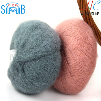 shanghai oeko tex mohair producer shingmore bridge selling wool and acrylic blended of knitting mohair yarn for hand knit