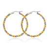 Fashion Jewelry Circle Hoop Earrings Wholesale Stainless Steel Personalized Twisted Earring
