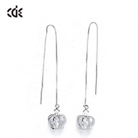 embellished with crystals from Swarovski Teardrop Jewelry 925 Sun Silver Jewelry Earring With Cz