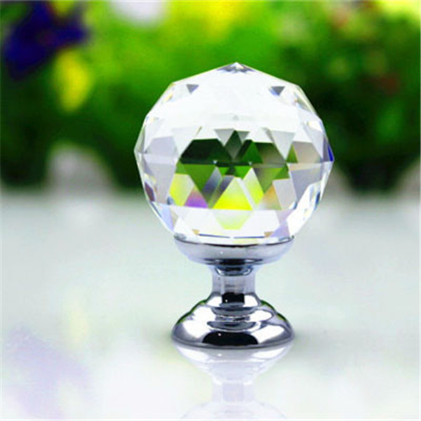 cheap antique decorative ball shaped Cabinet drawer crystal glass knob for home Furniture accessories