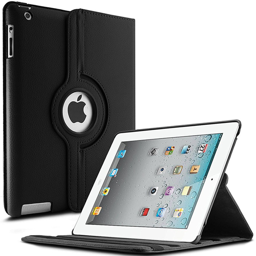 360 Rotating PU Leather Case For Apple <strong>iPad</strong> 2 <strong>iPad</strong> 3 <strong>iPad</strong> 4 protective sleeves tablet case for iPad2
