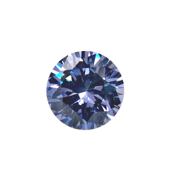 2mm to 15mm Tanzanite Round Brilliant Cut Cubic Zirconia for Jewelry Making