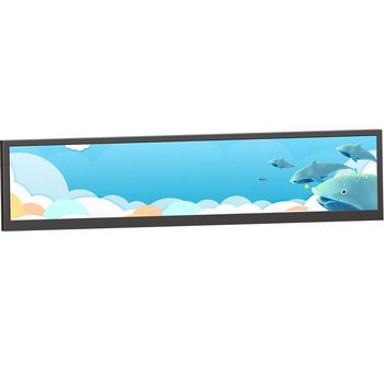 19  Inch  1920*360 Stretched Bar shelf edge Lcd display digital signage media player with Android 5.1.1 Wifi