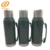 Stanley double wall stainless steel canteen bottle vacuum thermos with hammerstone painting