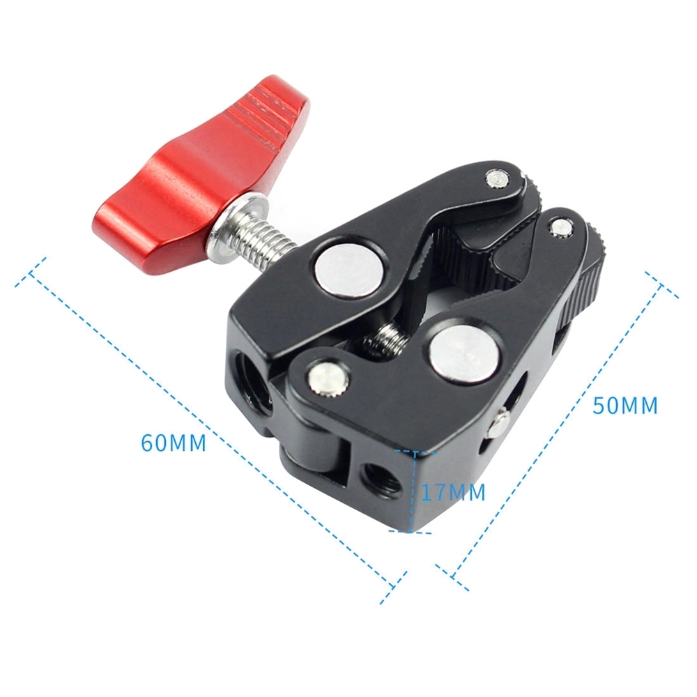 "New arriving Multi-function Super Ball Head Clamp Magic Arm Super Clamp w/1/4"" Thread for GPS Phone LCD/DV Monitor Video Light"