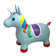 Eco PVC Unicorn Hopper Horse Hopper Bouncy Inflatable Animal Ride-on Toy for Children Boys and Girls Toddlers