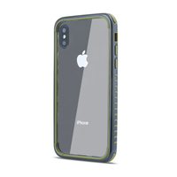 PC back + borders TPU premium cell phone case cover for iPhone XS Max