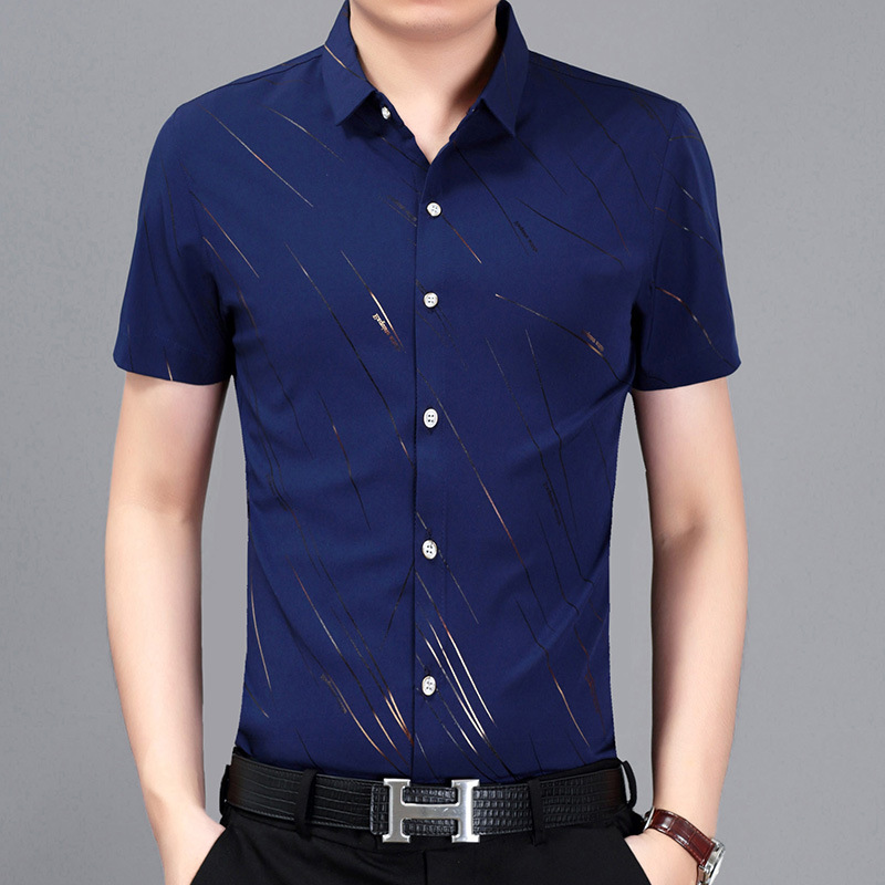 2020 Latest Shirts Wholesale Stock Non-ironing Formal Style Business Man's Uniform Polo Shirt