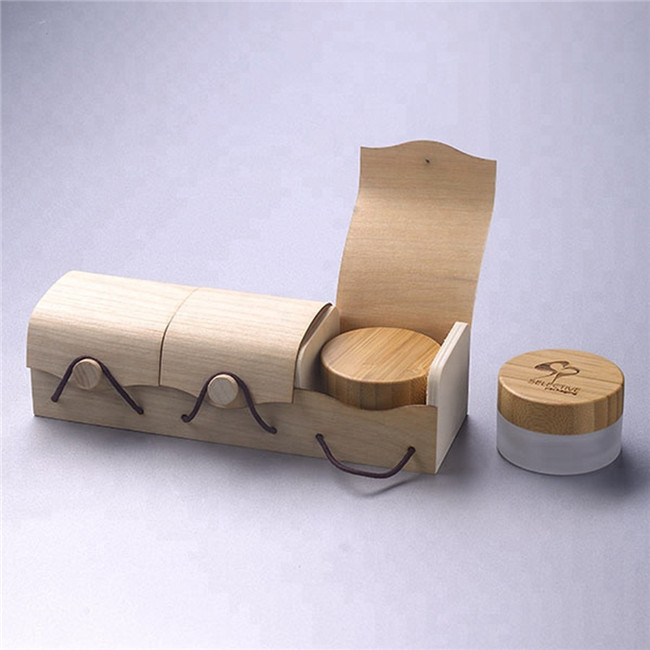 eco friendly cosmetic wooden box packaging gift box for cream jar container