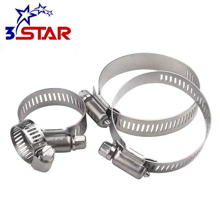 American worm type stainless steel quick <strong>c</strong> release pipe hose clips telescopic tube clamps