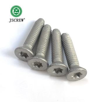 widely use m3 m4 m4 m6 countersunk flat head torx drive carbon steel dacromet silver machine screw
