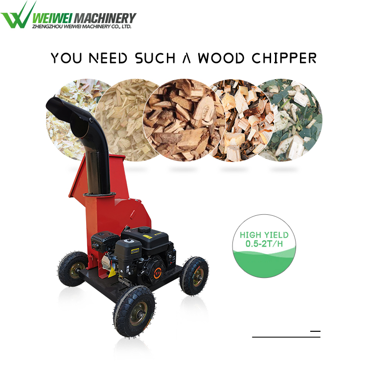 Weiwei garden wood waste crusher wood chipper for wood