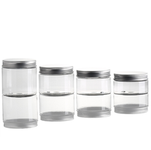 Cosmetics Plastic Cream Jar Pet Jar with Aluminium Lid Packaging Body Scrub Packaging Scrub <strong>Container</strong>