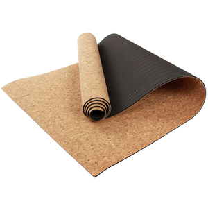 natural cork yoga mat eco friendly new exercise custom private label TPE cork yoga mat