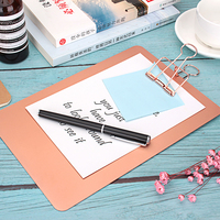 2020 Hot Sale Office&School Colorful Board Clip Aluminum Writing A5 Clipboard