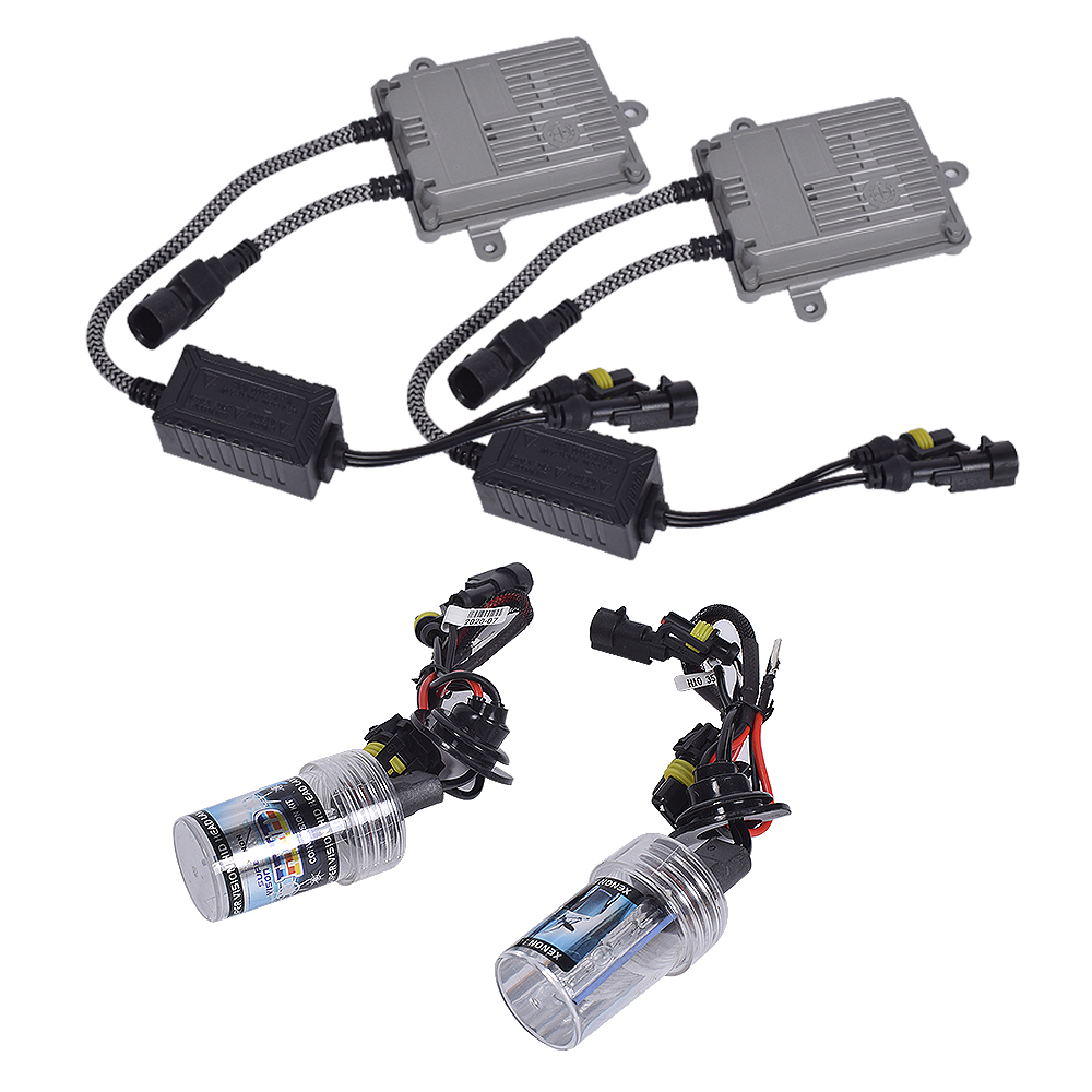 Sandonled Auto Headlight Bulbs <strong>Kit</strong> <strong>H10</strong> 55W with Ballast Car Headlight HID Xenon Bulbs <strong>Kit</strong> 3000LM 6000K 880 881 9005 9006 H1 H4