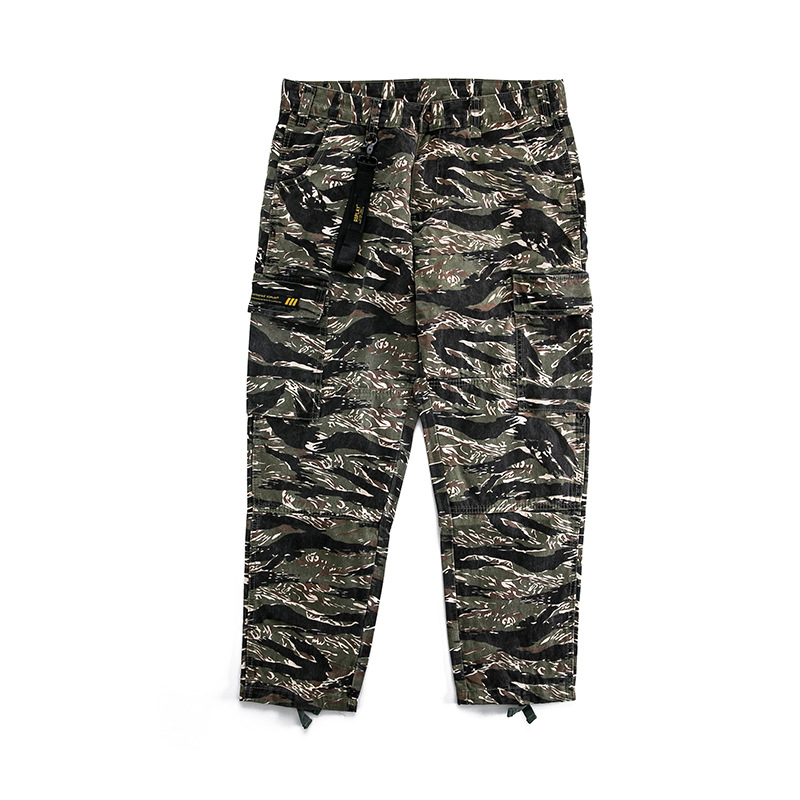 OEM Men's military overalls men's loose pockets with closed feet Leggings casual cotton pants <strong>A08</strong> men cargo camo pants