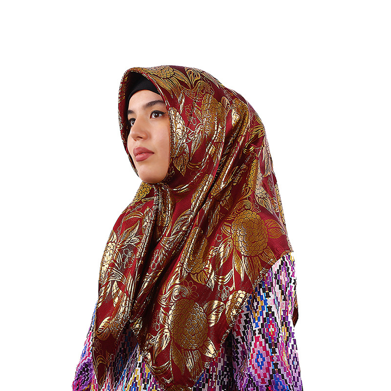 New National Fashion Scarf Fashion New Women's Convenient Islamic Silk Jacquard Muslim Scarf Cover