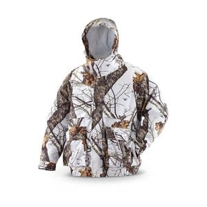 Hunting White Camo Jacket Mens for Winter