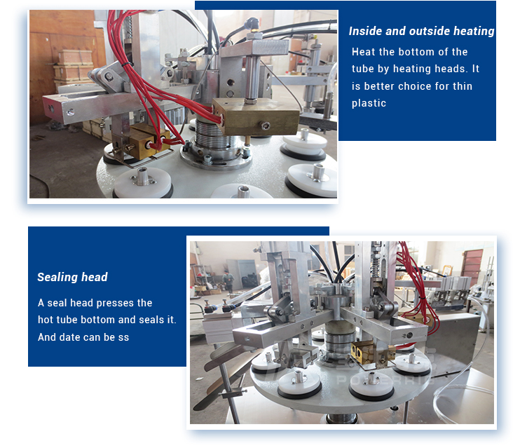 Stainless steel cosmetic toothpaste test soft plastic tube semi automatic paste cream filling machine