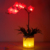 Creative Bedroom Decoration Led Artificial Phalaenopsis vase Lamp