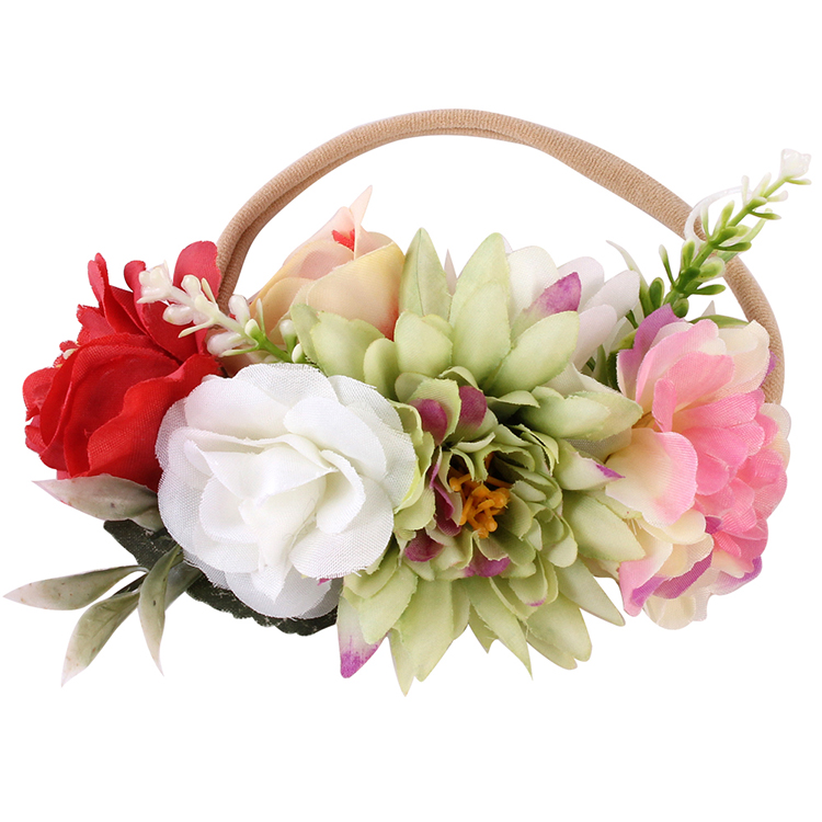 Wholesale 2019 flower floral hairband newborn photography headband kids <strong>hair</strong> <strong>accessories</strong>